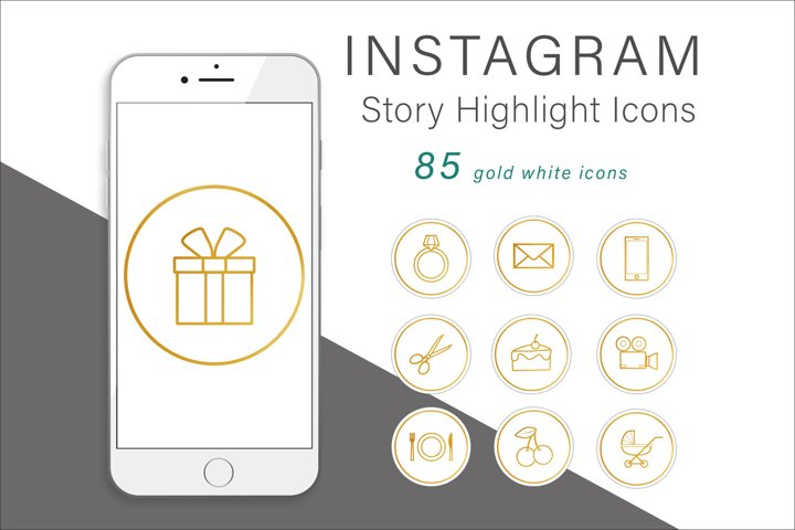 Gold Instagram Story Highlight Icons