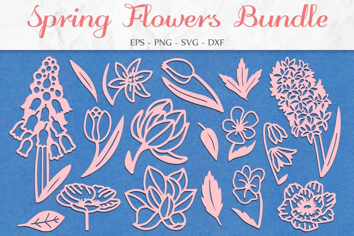 Floral Bundle SVG, Floral Clipart, Flowers SVG, Mothers Day