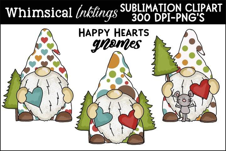 Happy Hearts Gnomes Sublimation Clipart example