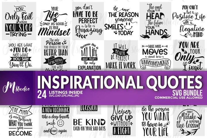 Inspirational Quotes svg Bundle