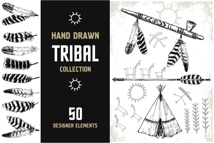 Tribal collection. Hand Drawn design