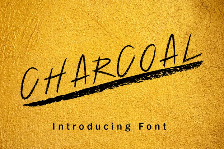 Charcoal Hand Drawn Font