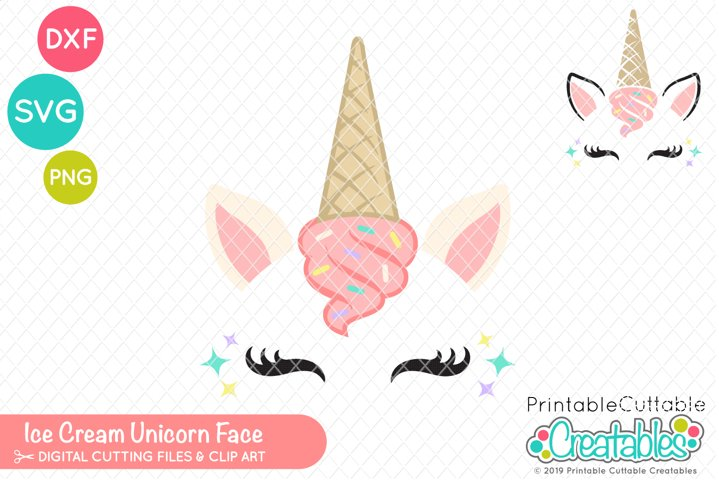 Ice Cream Unicorn Face SVG