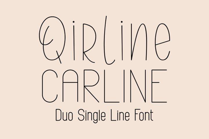 Qirline & Carline Single Line - Hair Line Font