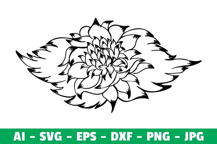Flower Clipart Silhouette SVG