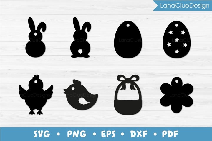 8 Easter Tags SVG