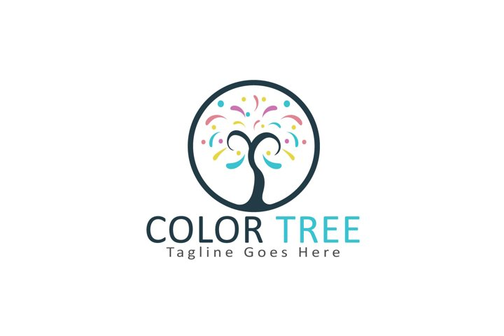 Color Tree Logo Design.