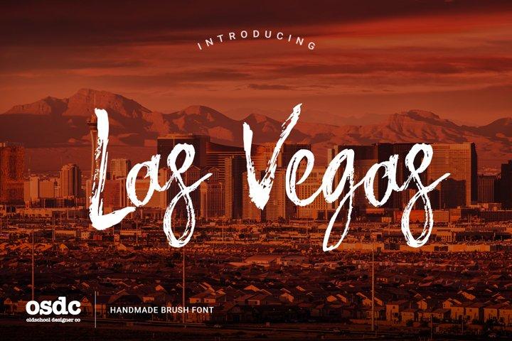 Las Vegas Brush Font