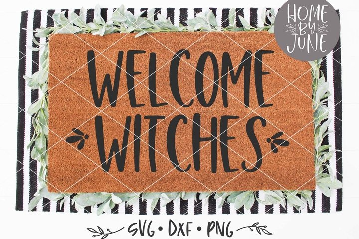 Welcome Witches Halloween Doormat SVG DXF PNG