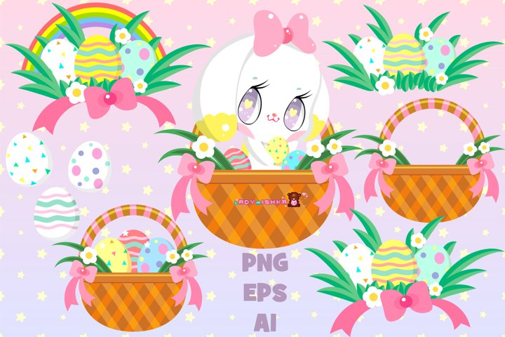 Cute easter set with bunny