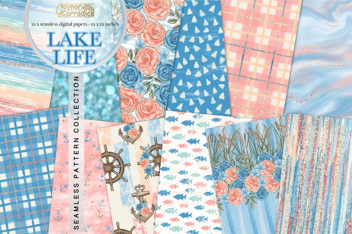 Lake Life - Nautical seamless patterns