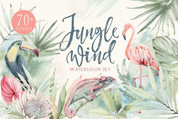 JUNGLE WIND Watercolor set