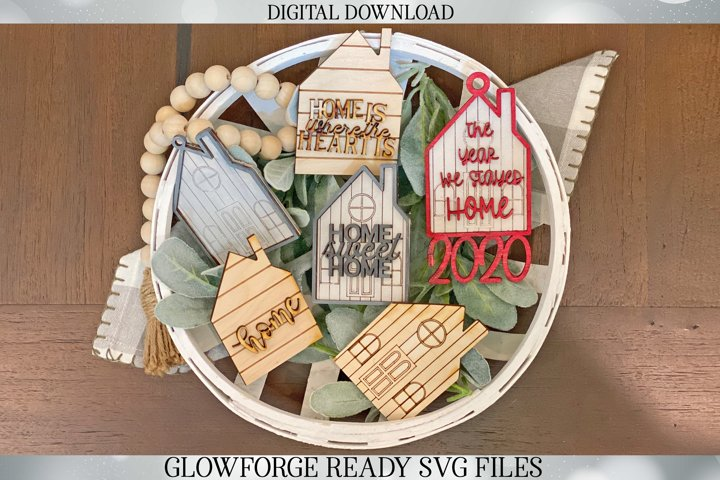 3D Home Signs | Glowforge SVG | Set of 3 Designs |Shiplap