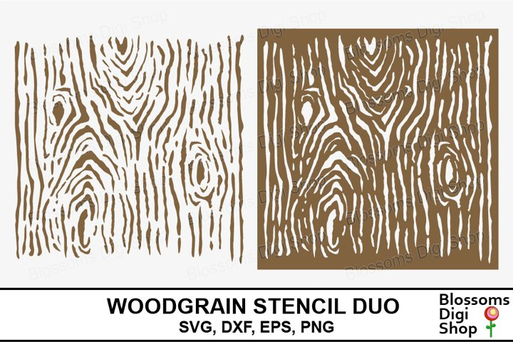 Woodgrain Stencil Duo