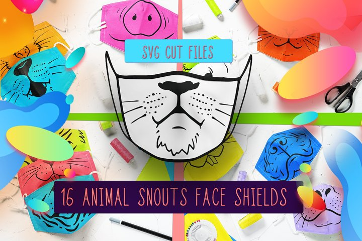 Animal Faces SVG Files Pack | Cute Animal Faces SVG