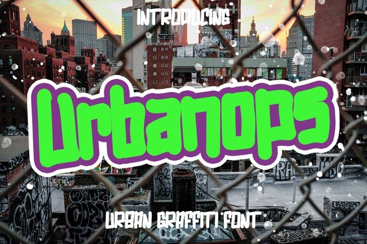 Urbanops - Urban Graffity Fonts