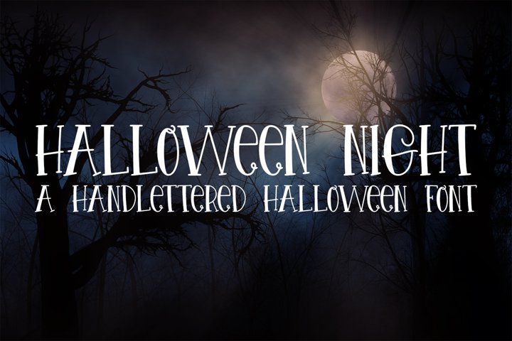 Halloween Night - A Spooky Hand-Lettered Font