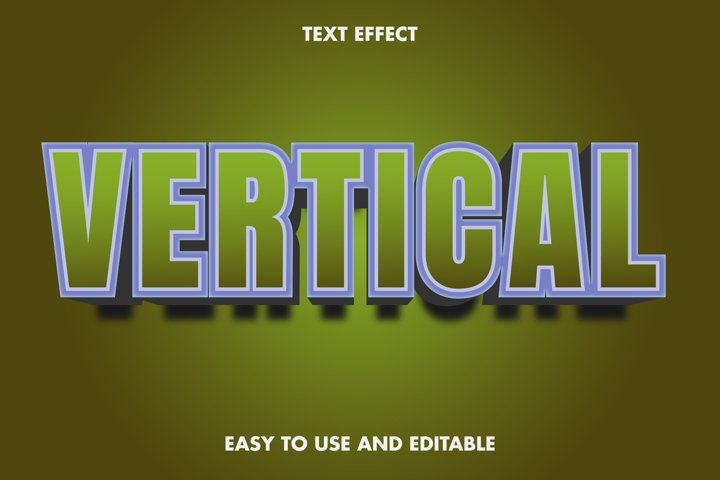 Vertical text effect. editable and easy to use. premium