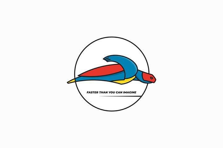 Super turtle logo design
