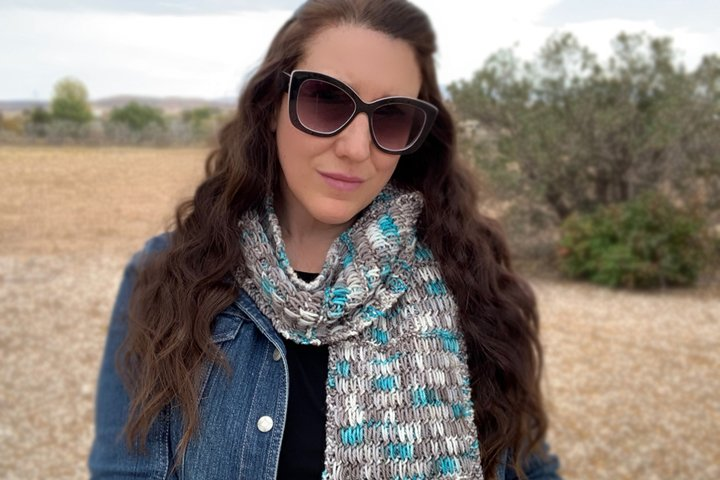 Winter Chill Scarf Knit Pattern