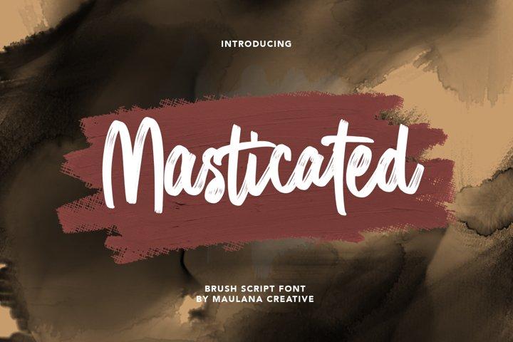 Masticated Brush Script Font