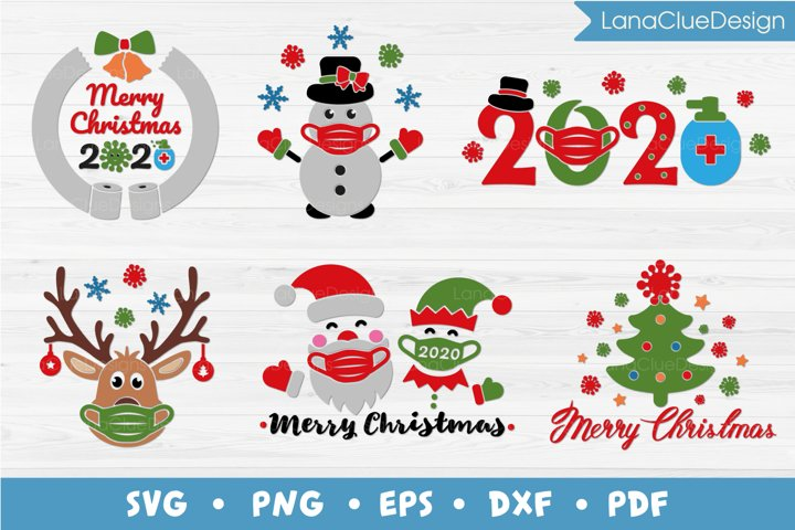 Quarantine Christmas 2020 Bundle SVG - 6 designs