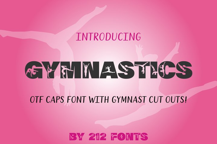 212 Gymnastics Caps Display Font Gymnast Alphabet OTF