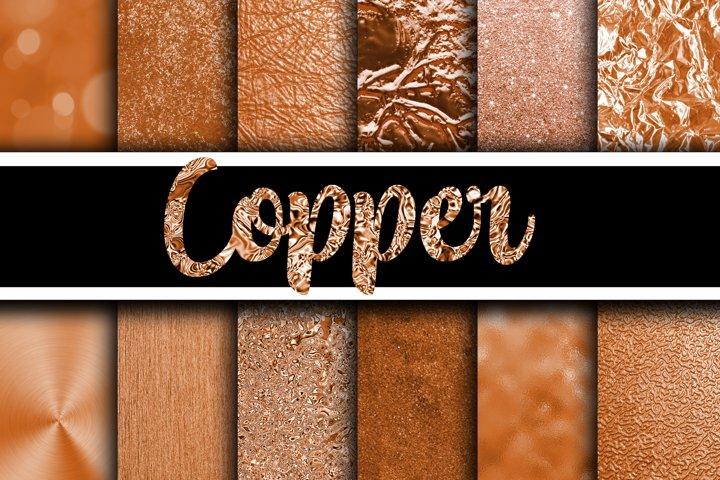 Copper Digital Paper Textures