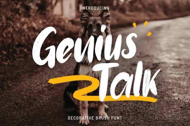 Genius Talk Brush Font