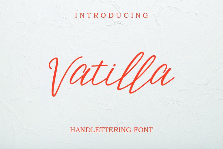 Vatilla - Handlettering Font