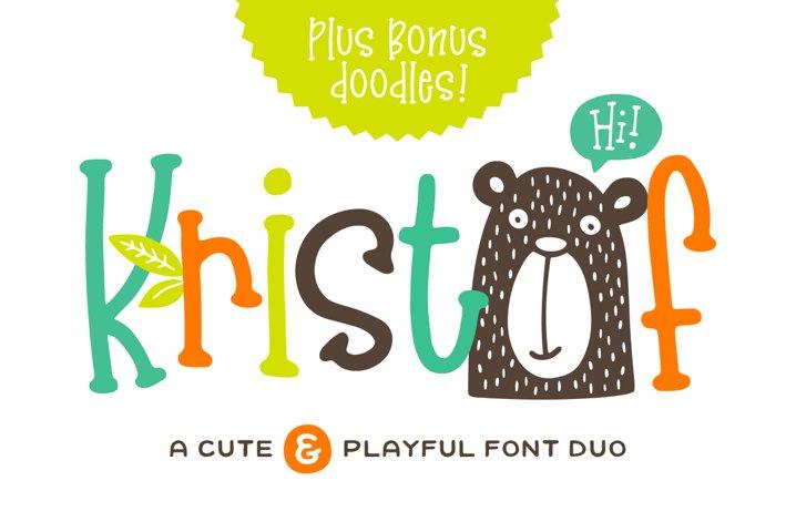 Kristof Font Duo Doodles!