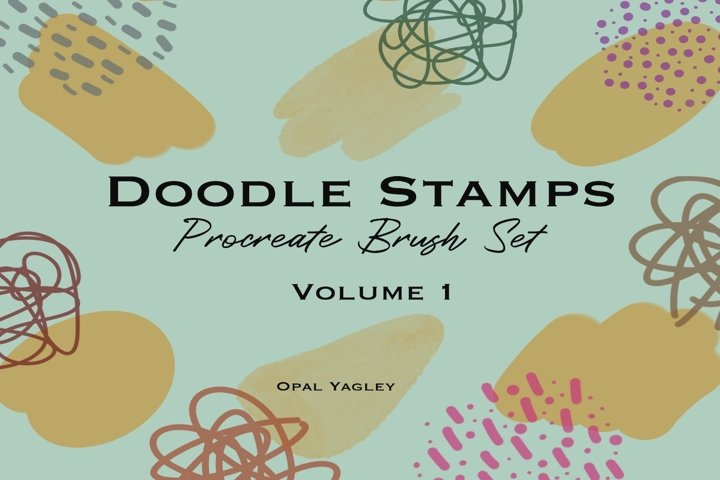 Doodle Procreate Brushes /Hand Drawn Stamps / iPad