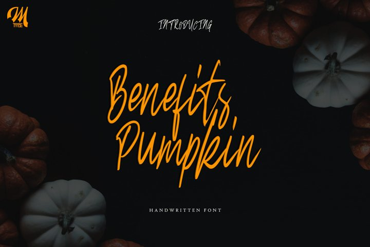 Benefits pumpkin Script