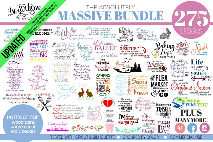 Massive Bundle 275 SVG & DXF cut ready Cricut Silhouette