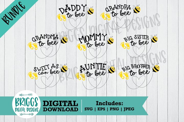 Mommy to Bee SVG Bundle | Baby Shower Cut Files