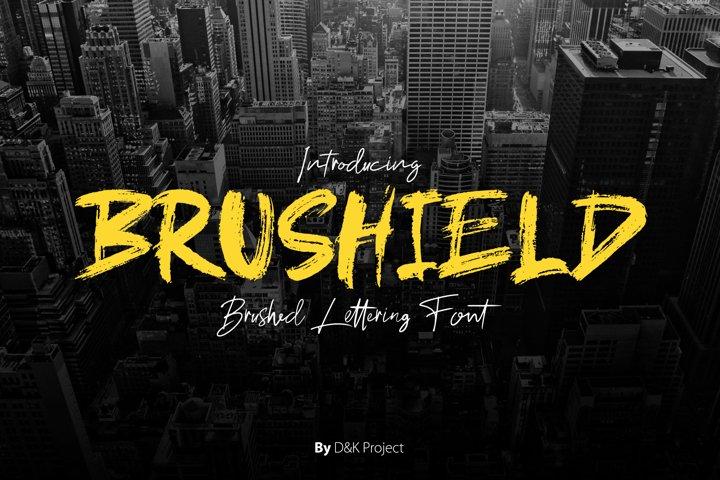 Brushield handwritten brush font