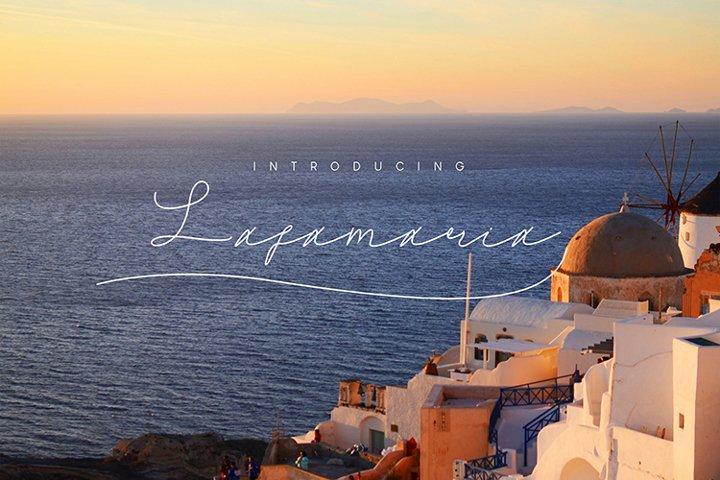 Lafamaria Script Font