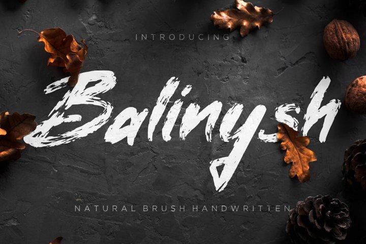 Balinysh Natural Brush Handwritten
