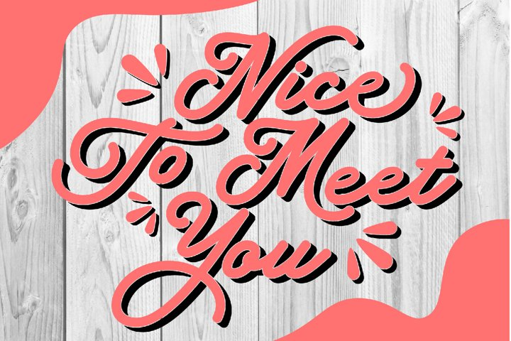 Nice To Meet You, digital file | svg, png, eps, dxf, pdf