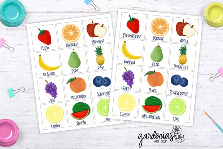 Fruit Memory Game | Printable Matching Game | Fruit Cards