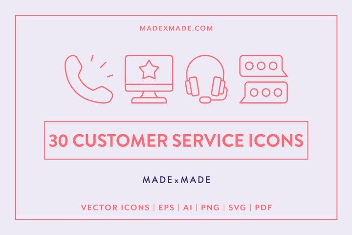 Line Icons - Customer Service