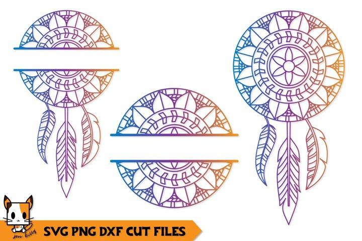Mandala Monogram SVG | Floral Boho Dreamcatcher