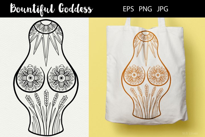 Bountiful Goddess Illustration EPS PNG