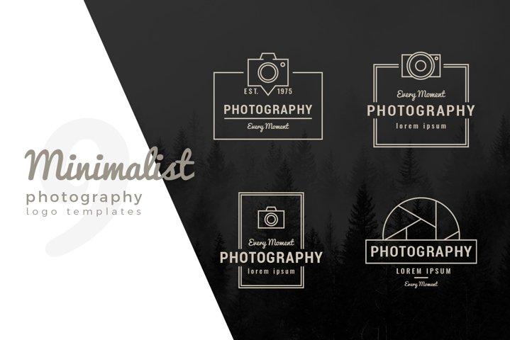 Minimal Photography and Camera Logo Templates