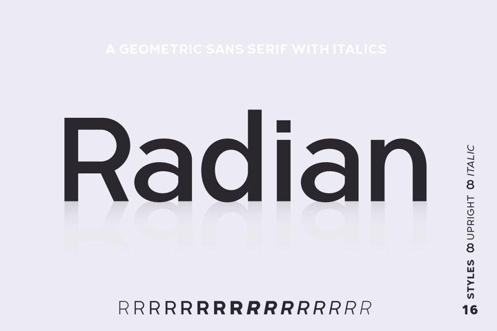 Radian | A Geometric Sans Serif Typeface