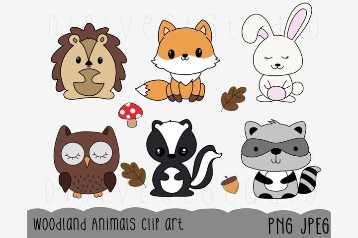 Woodland Animals Clipart - Digital Scrapbooking Elements