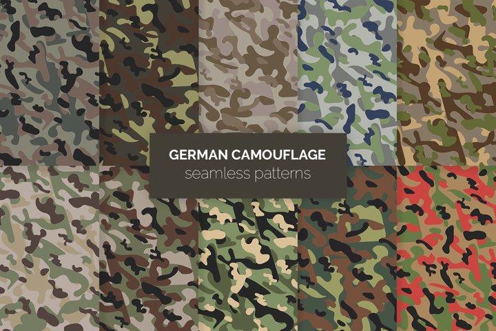 German Camouflage Seamless Patterns