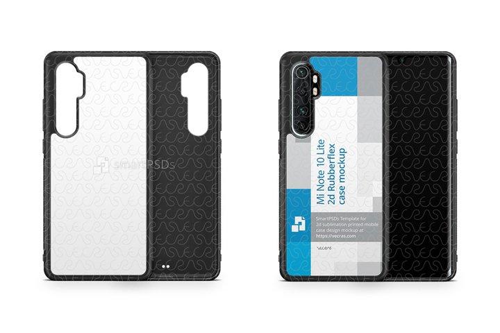Mi Note 10 Lite 2020 2d Rubber Flex Case Design Mockup