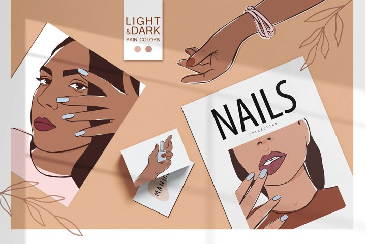 Manicure, nails, female hands