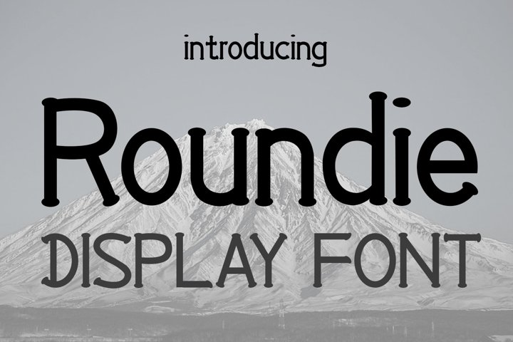 EP Roundie- Display Font